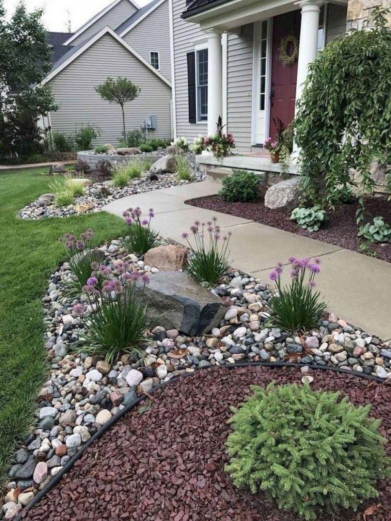 11 Front Yard Side Yard and Backyard Landscaping Ideas | Rock ...