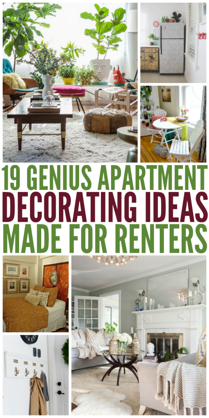11 Genius Apartment Decorating Ideas Made for Renters | Diy home ...