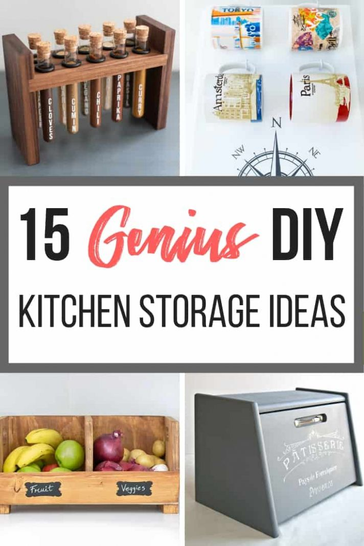 11 Genius DIY Kitchen Storage Ideas - The Handyman's Daughter