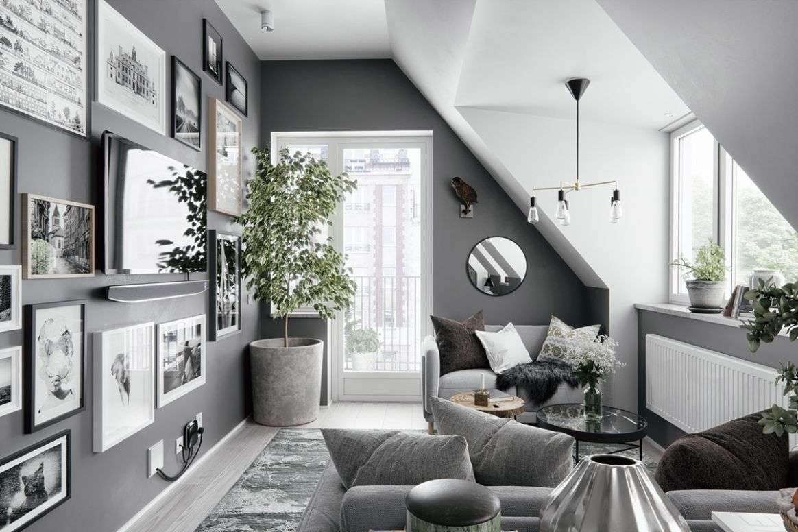11 Gorgeous Attic Apartments That Use Grey As Base