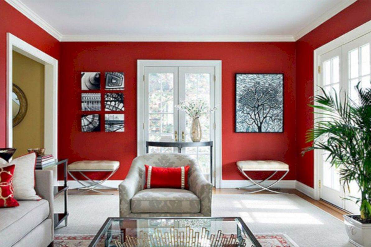 11+ Gorgeous Red White Living Rooms Ideas (With images) | Living ..
