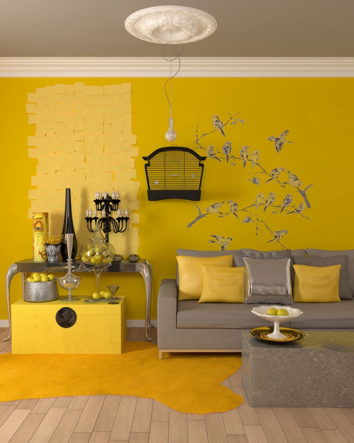 11 Gorgeous Yellow Accent Living Rooms