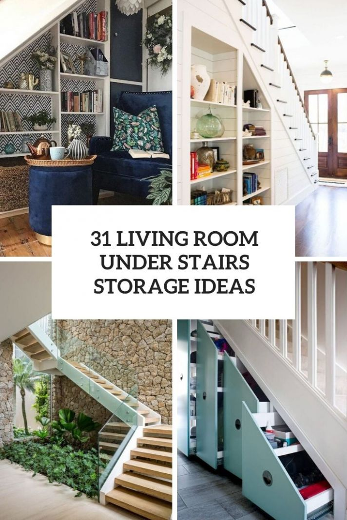 11 Living Room Under Stairs Storage Ideas - Shelterness