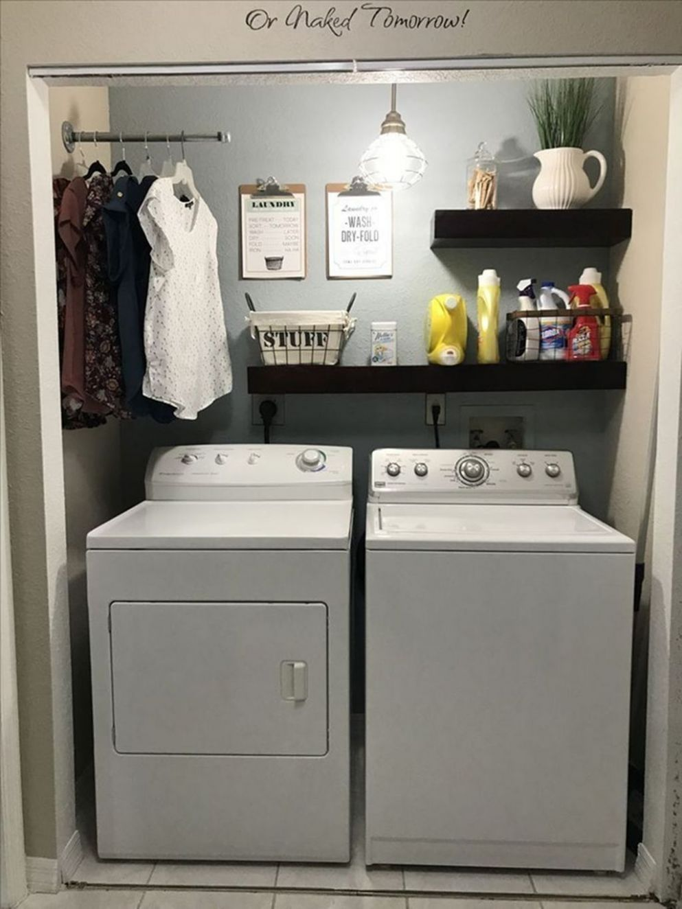 11 Minimalist Small Laundry Room Design And Decor Ideas | Laundry ...