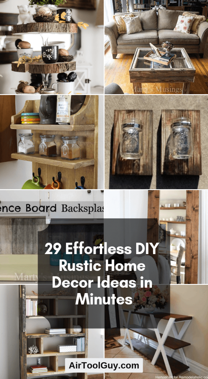11 Mühelose DIY Rustic Home Decor Ideen in Minuten | AIR-TOOL KERL ...
