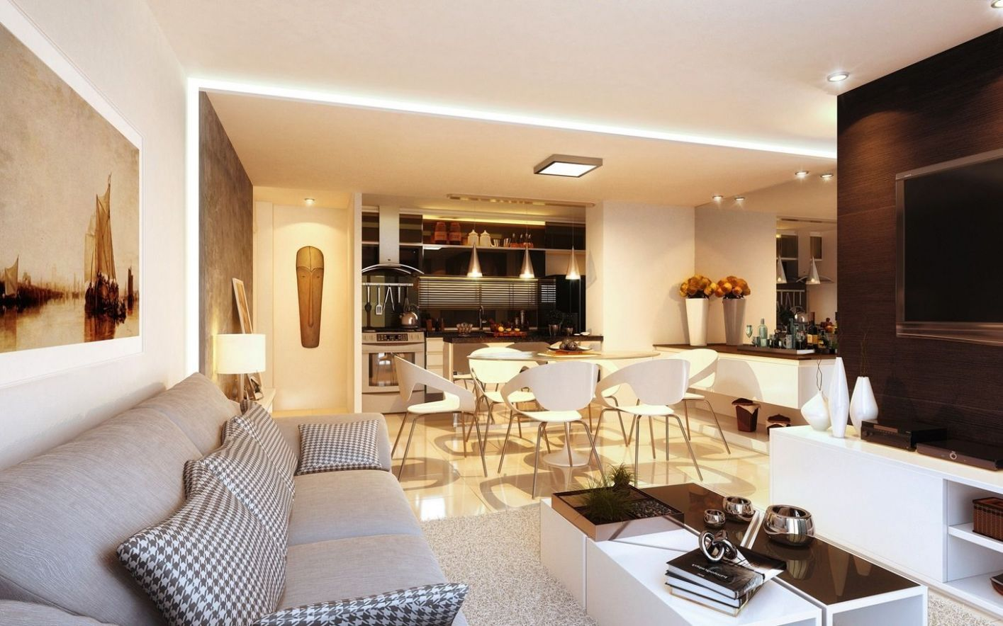11 Open Concept Apartment Interiors For Inspiration | Open plan ..