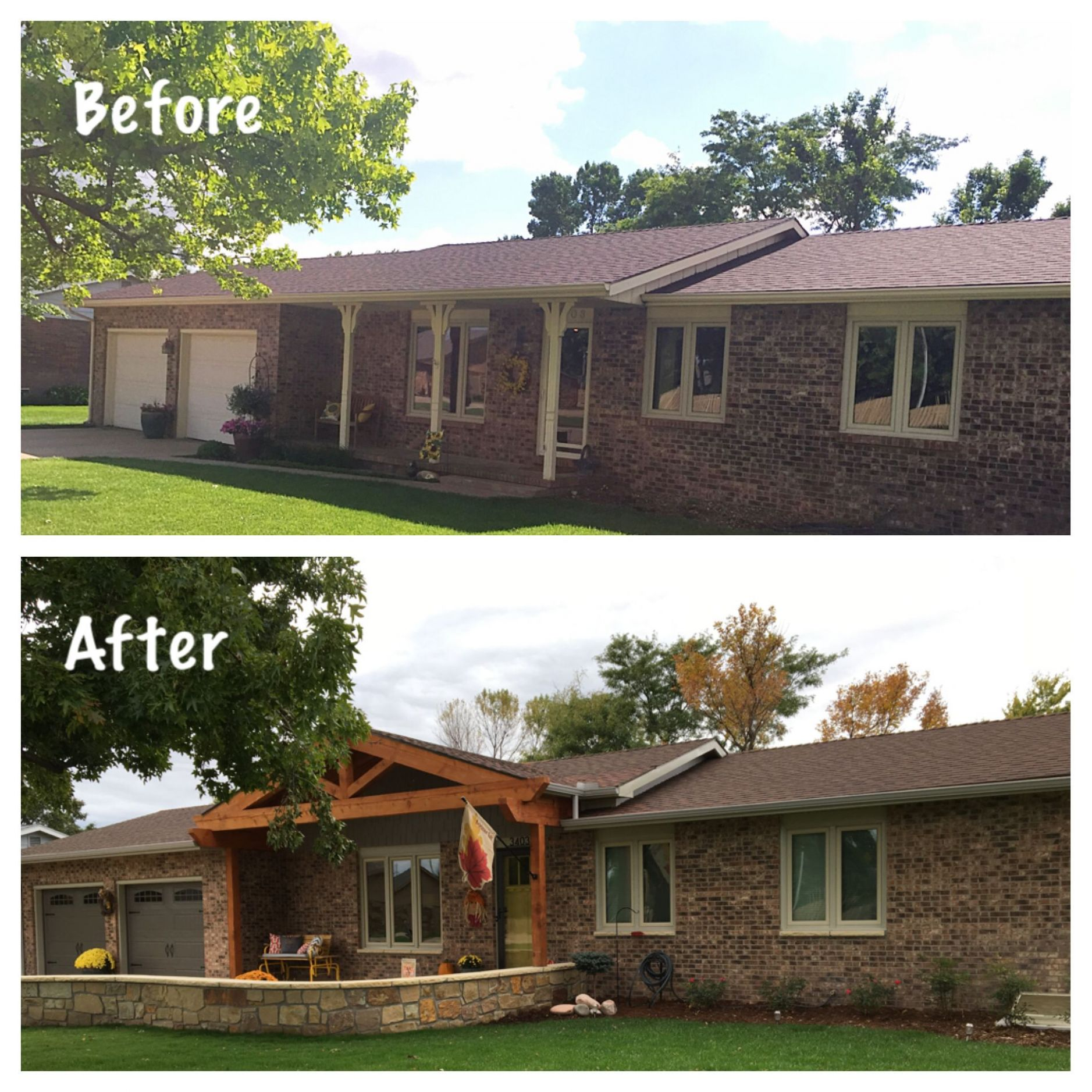 11's before and after Ranch style exterior update | Ranch house ...