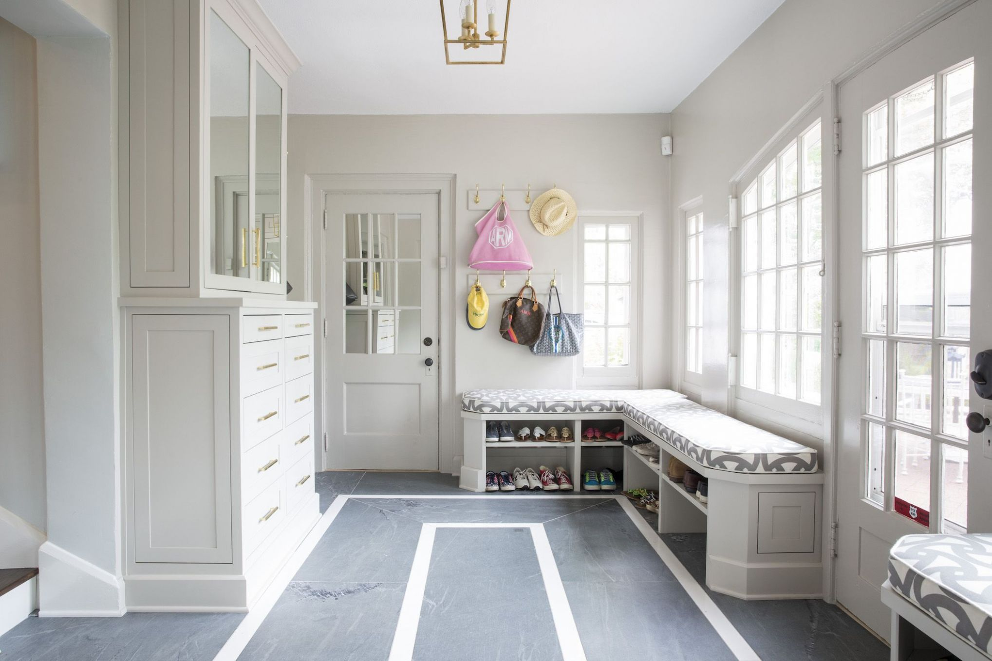 11 Smart Mudroom Ideas - Stylish Mudroom Benches & Storage - sunroom mudroom ideas
