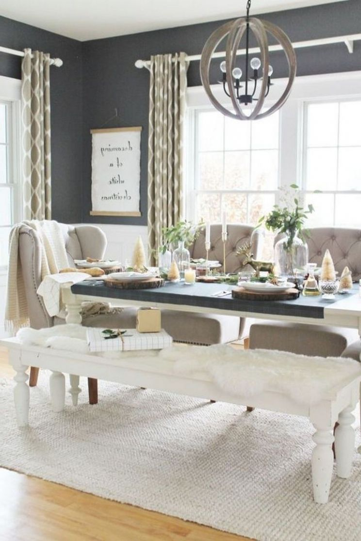 11+ Stunning Modern Farmhouse Dining Room Decorating Ideas