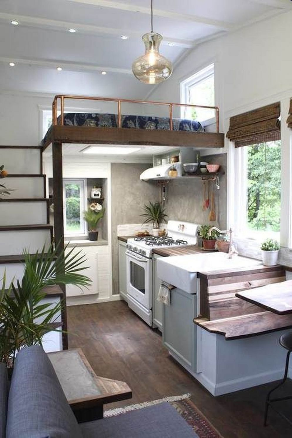 11 Tiny House Hacks: Modern and Larger Look   Tiny house ..