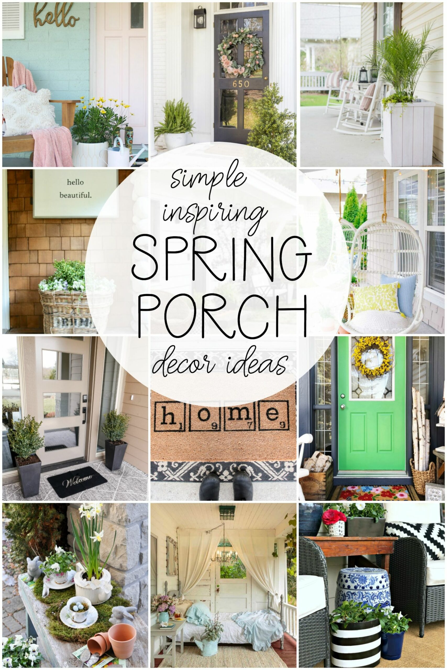 11 Ways to Refresh Your Front Porch for Spring - Bless'er House