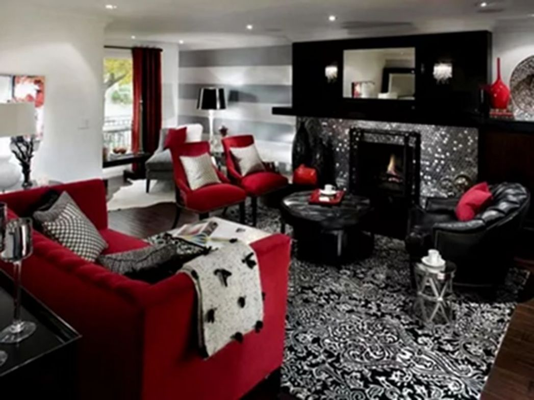 12 Adorable Black And Red Home Interior For Cozy and Stunning Home ..