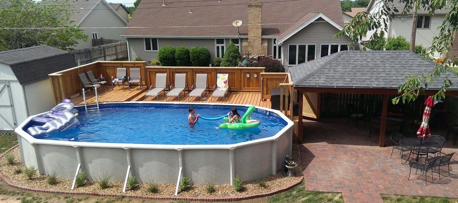 12+ Amazing and Unique Above Ground Pool Ideas with Decks   Best ..