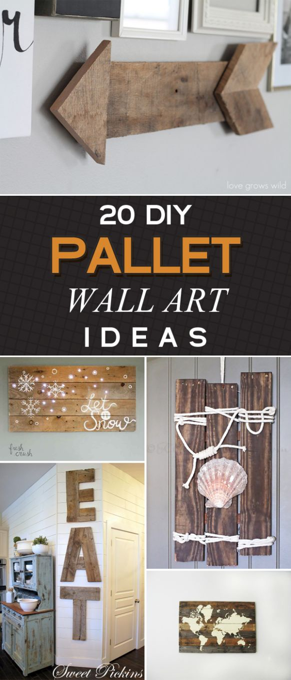 12 Amazing DIY Pallet Wall Art Ideas That Will Elevate Your Home Decor - diy home decor with pallets