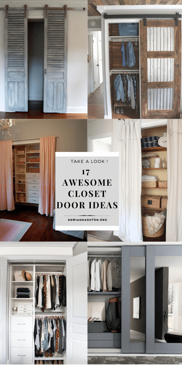 12 Awesome Closet Door Ideas to Make the Space More Unique - closet ideas with doors