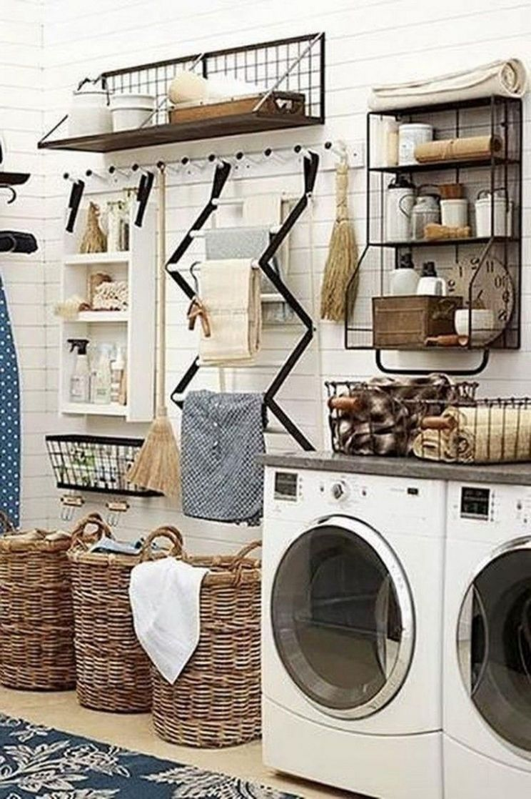12+ Awesome Rustic Functional Laundry Room Ideas Best For ..
