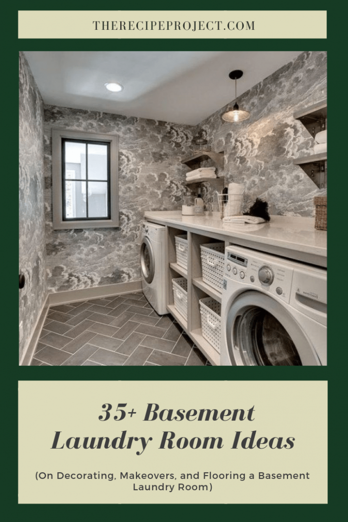 12+ Basement Laundry Room Ideas (on decorating,makeover,and flooring)