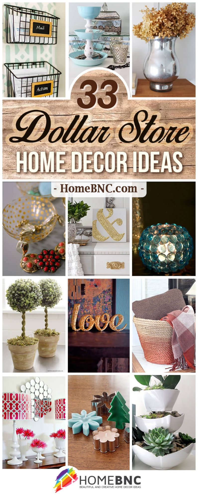 12 Best DIY Dollar Store Home Decor Ideas and Designs for 12