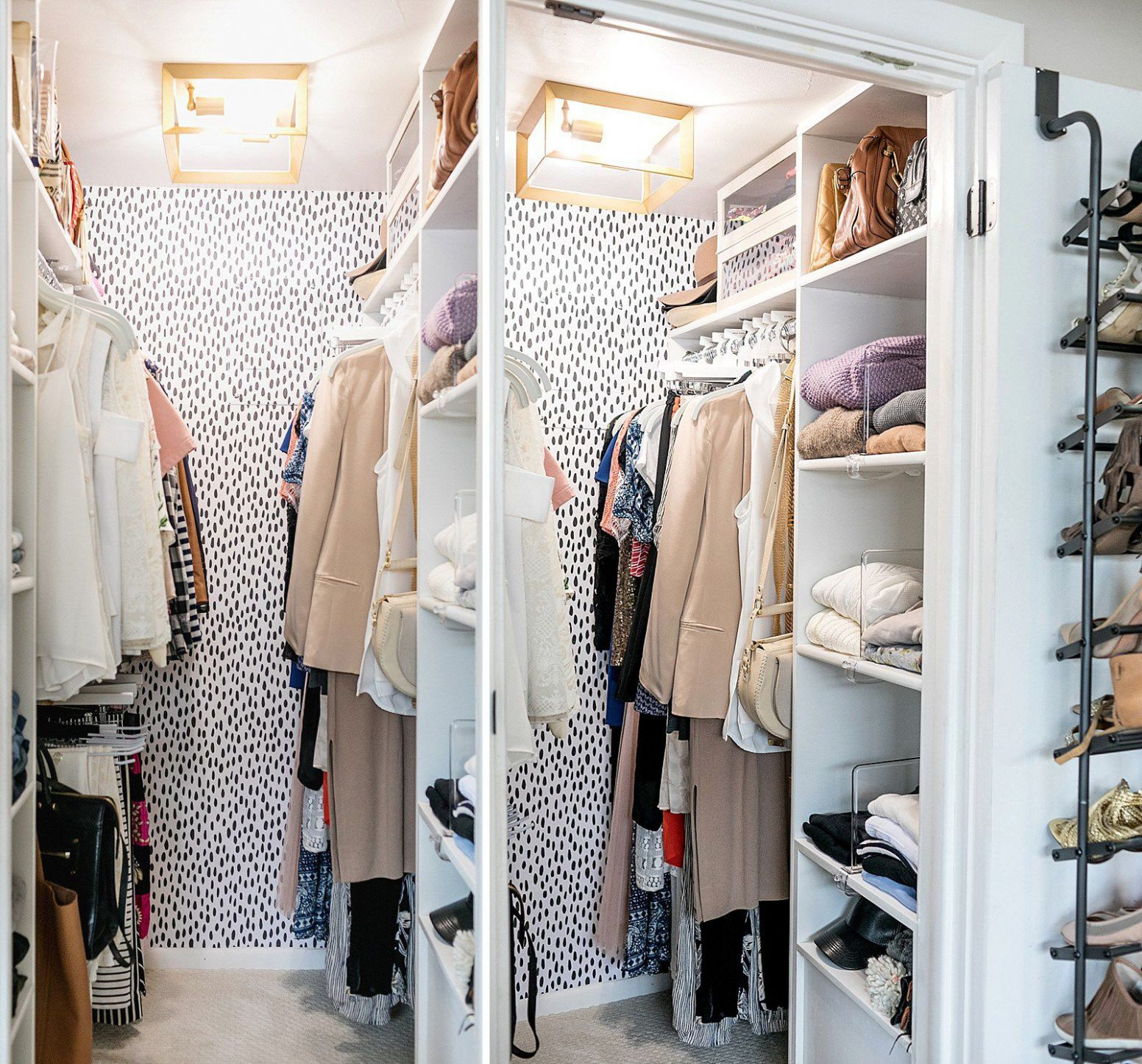 12 Best Small Walk-in Closet Storage Ideas for Bedrooms - closet arrangement ideas