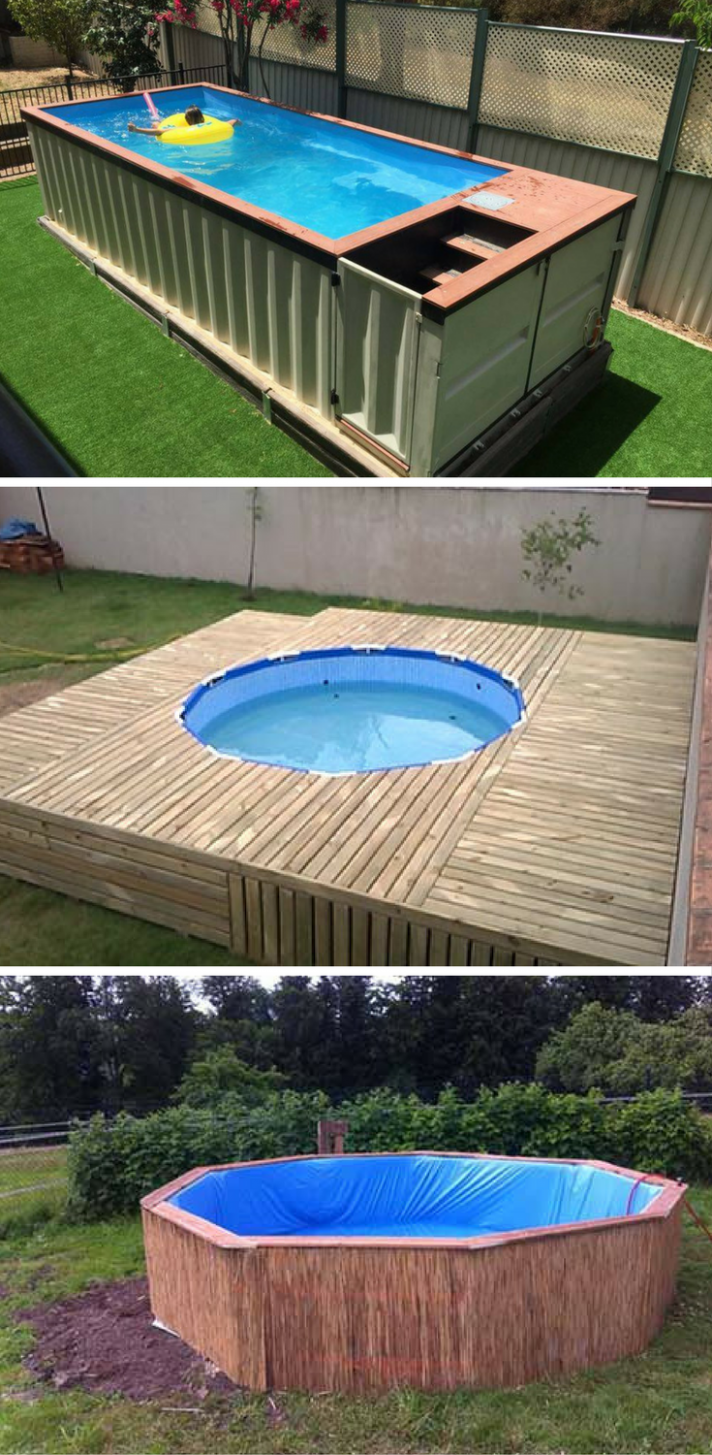 12 Brilliantly Awesome DIY Backyard Pool Ideas! | Pool landscaping ..