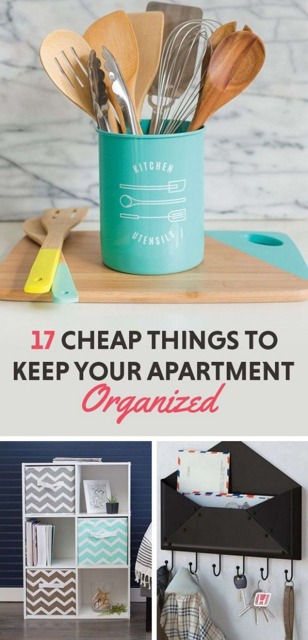 12 Cheap Things To Keep Your Apartment Organized | Cheap apartment ..