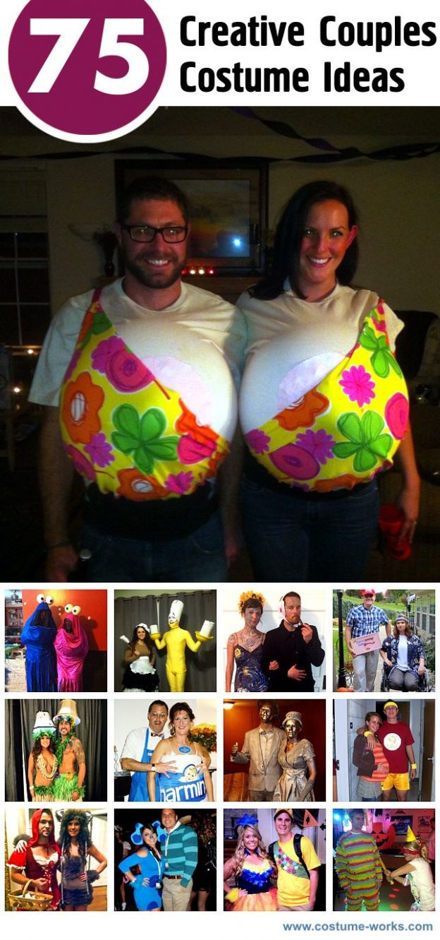 12 Creative Couples Costume Ideas | Diy halloween costumes, Couple ..