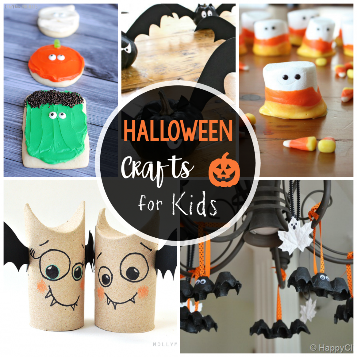 12 Cute & Easy Halloween Crafts for Kids - Crazy Little Projects