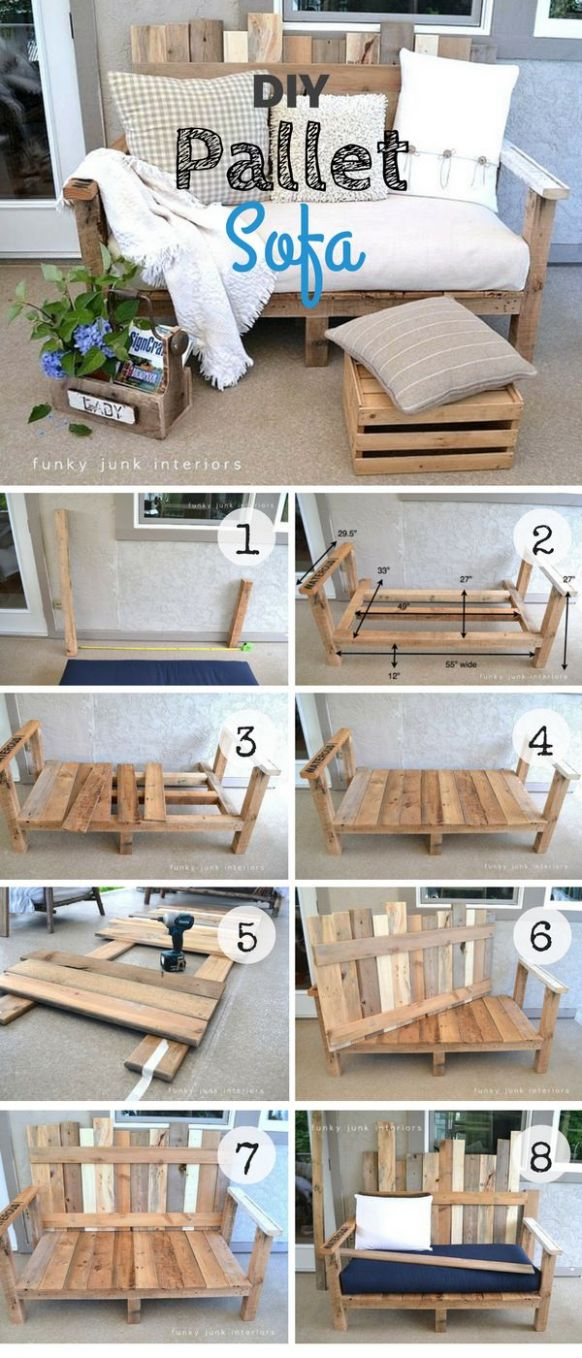 12 Easy DIY Pallet Project Ideas for Rustic Home Decor - Splendid DIY - diy home decor with pallets