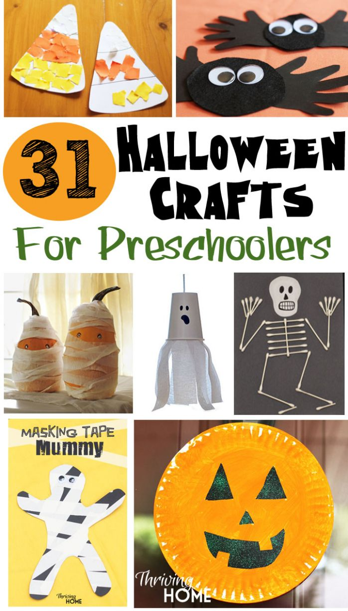 12 Easy Halloween Crafts for Preschoolers - Thriving Home