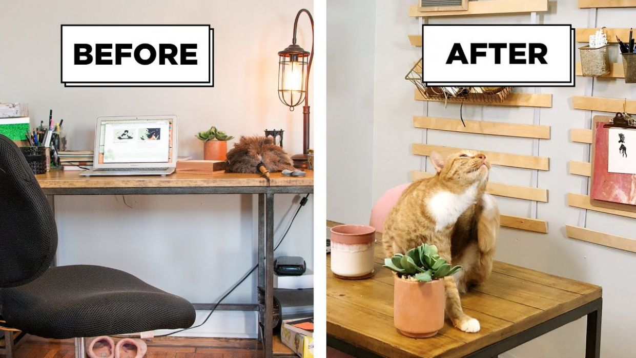 12 Easy Home Office Transformation Projects - home office ideas buzzfeed