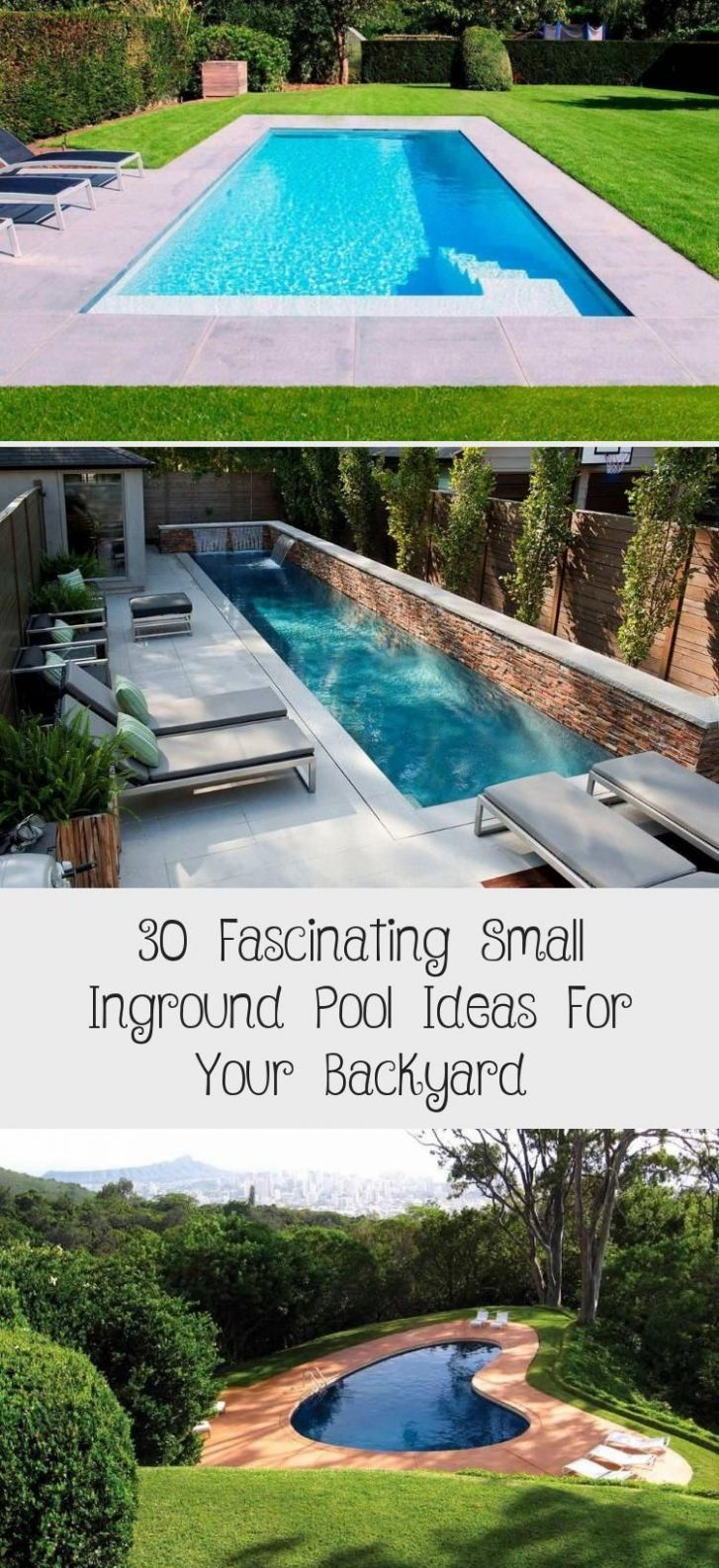 12 Fascinating Small Inground Pool Ideas For Your Backyard - Home ...