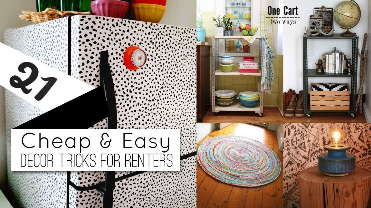 12+ Home decor ideas for renters - YouTube | Home decor, Renters ...