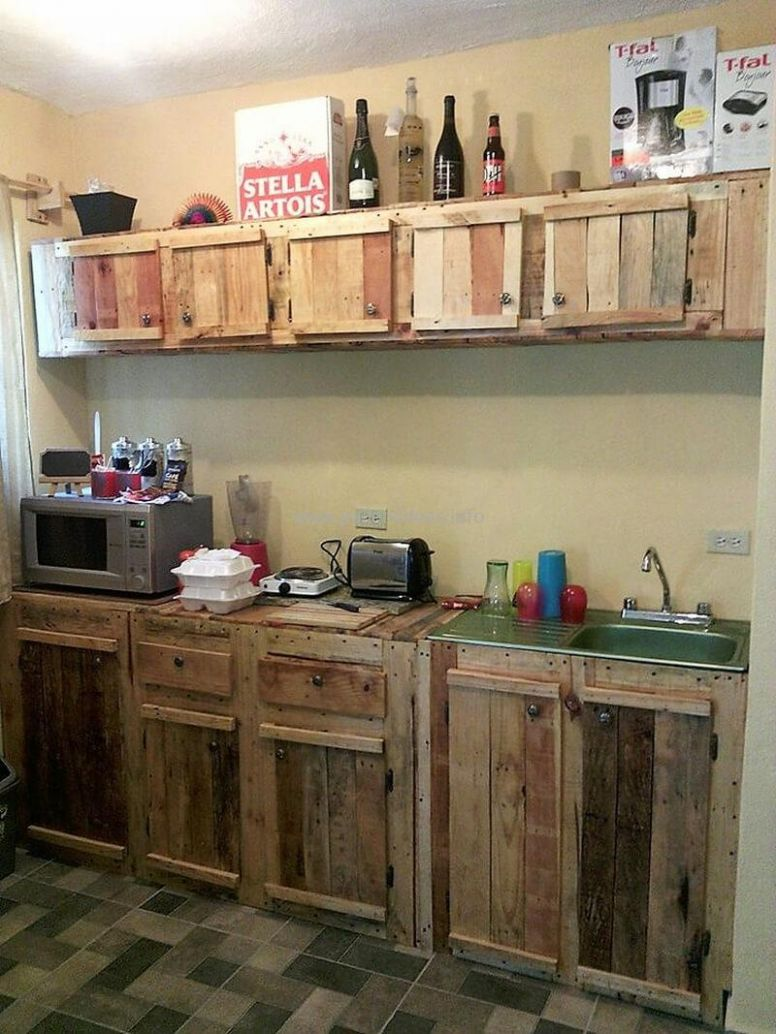 12 Ideas for Wood Pallet Made Kitchens | DIY Motive - kitchen ideas using pallets