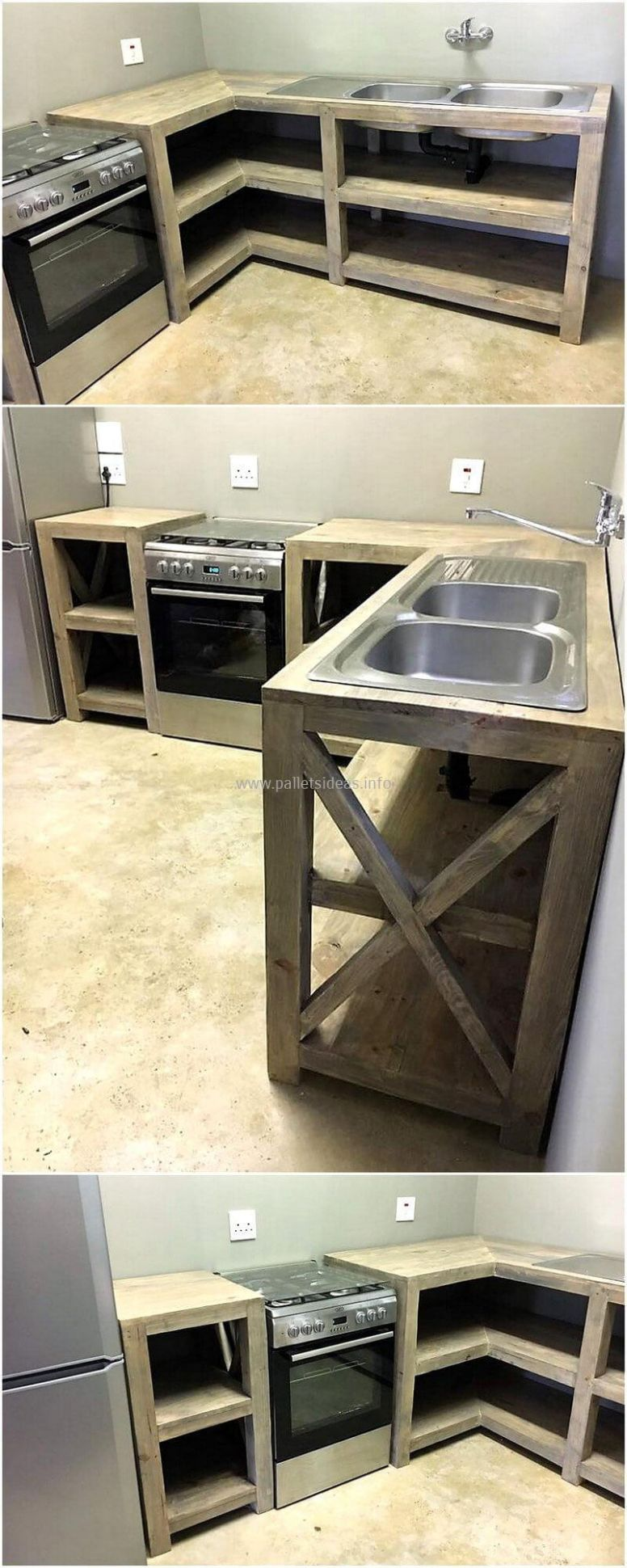 12 Ideas for Wood Pallet Made Kitchens   DIY Motive - kitchen ideas using pallets