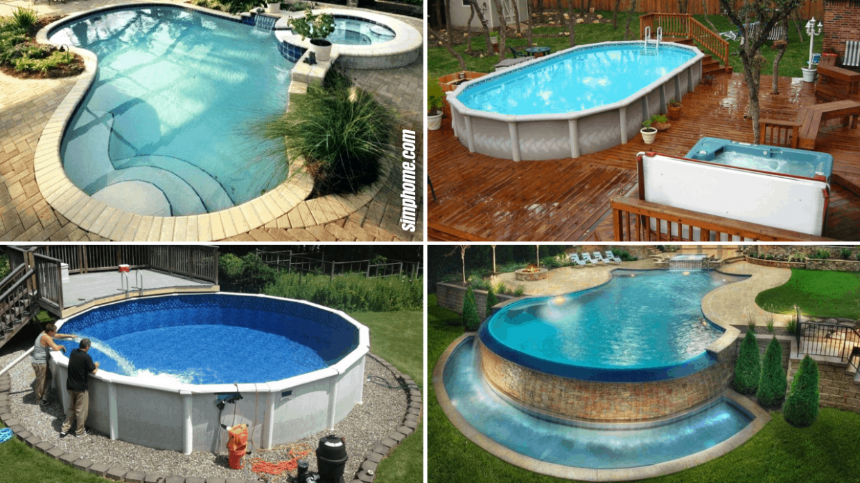 12 Ideas How to Build Above Ground Pool Backyard Ideas - Simphome - pool ideas diy