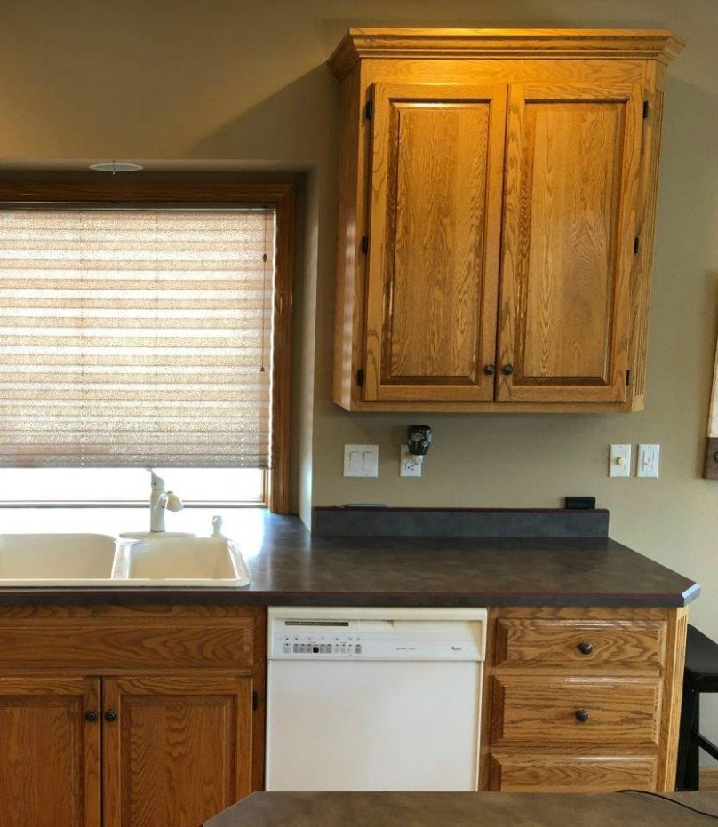 12 Ideas: How to Update Oak or Wood Kitchen Cabinets - kitchen ideas painted cabinets