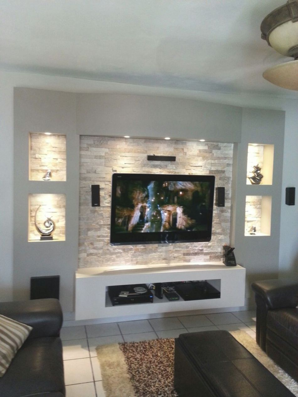 12+ Ideas Lovely Modern Living Room Tv Wall - Awesome Decors - living room ideas tv