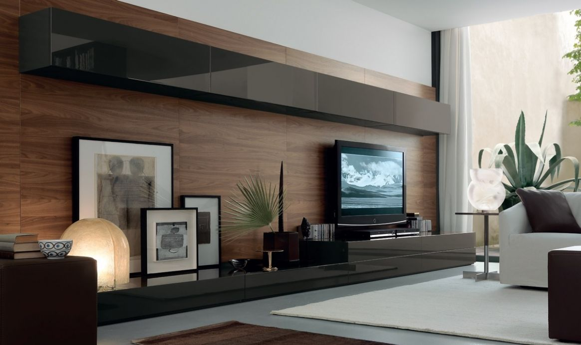 12 Ideas To Decorate The Wall You Hang Your TV On - living room ideas tv