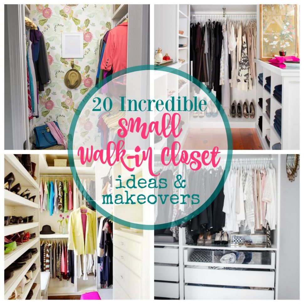 12 Incredible Small Walk-in Closet Ideas & Makeovers | The Happy ...
