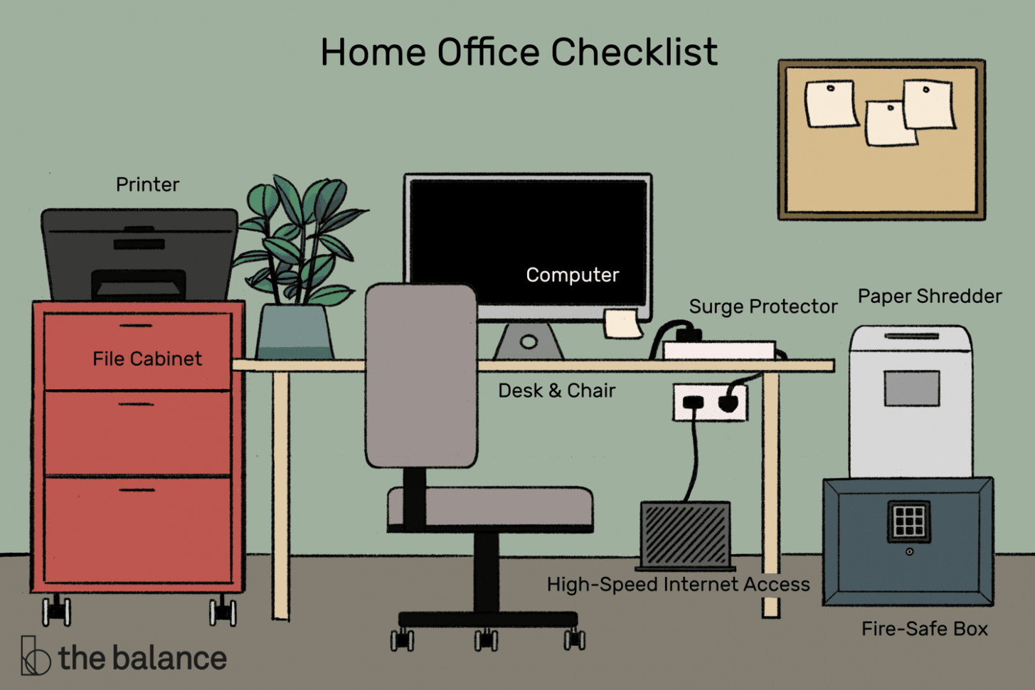 12 Items You Need to Set up an Efficient Home Office - home office location ideas