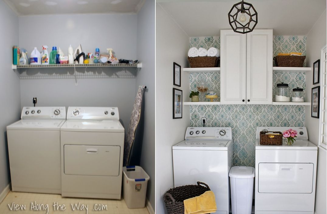 12 Laundry Room Reveals To Inspire Your Next Makeover - laundry room arrangement ideas
