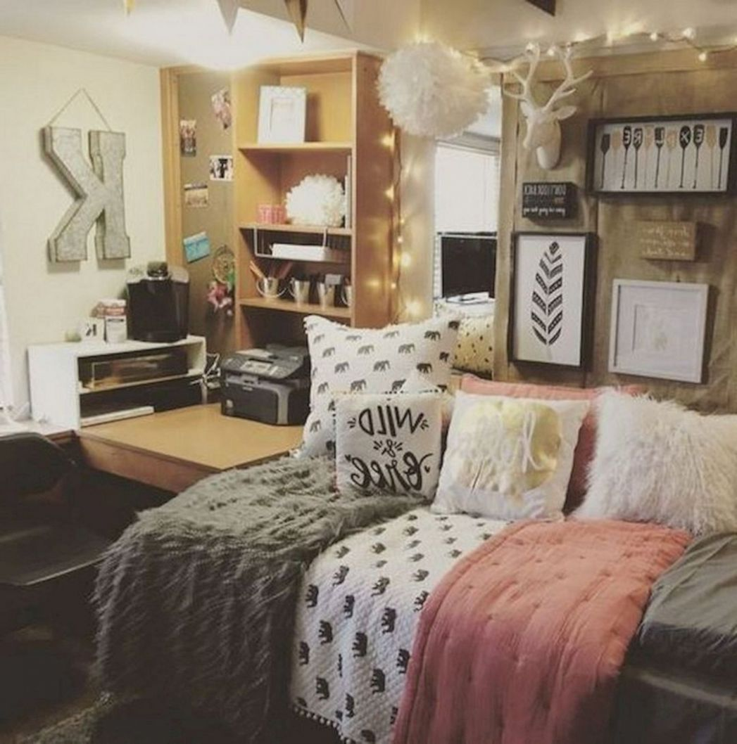 12+ Lovely Dorm Room Organization Ideas For Small Spaces - DEXORATE - dorm room design and decor unit