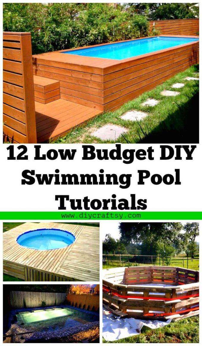 12 Low Budget DIY Swimming Pool Tutorials ⋆ DIY Crafts - pool ideas diy