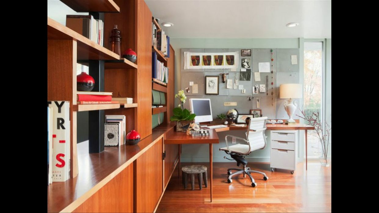 12 Midcentury Modern Home Office Design Ideas For a Retro Feel - home office ideas mid-century modern