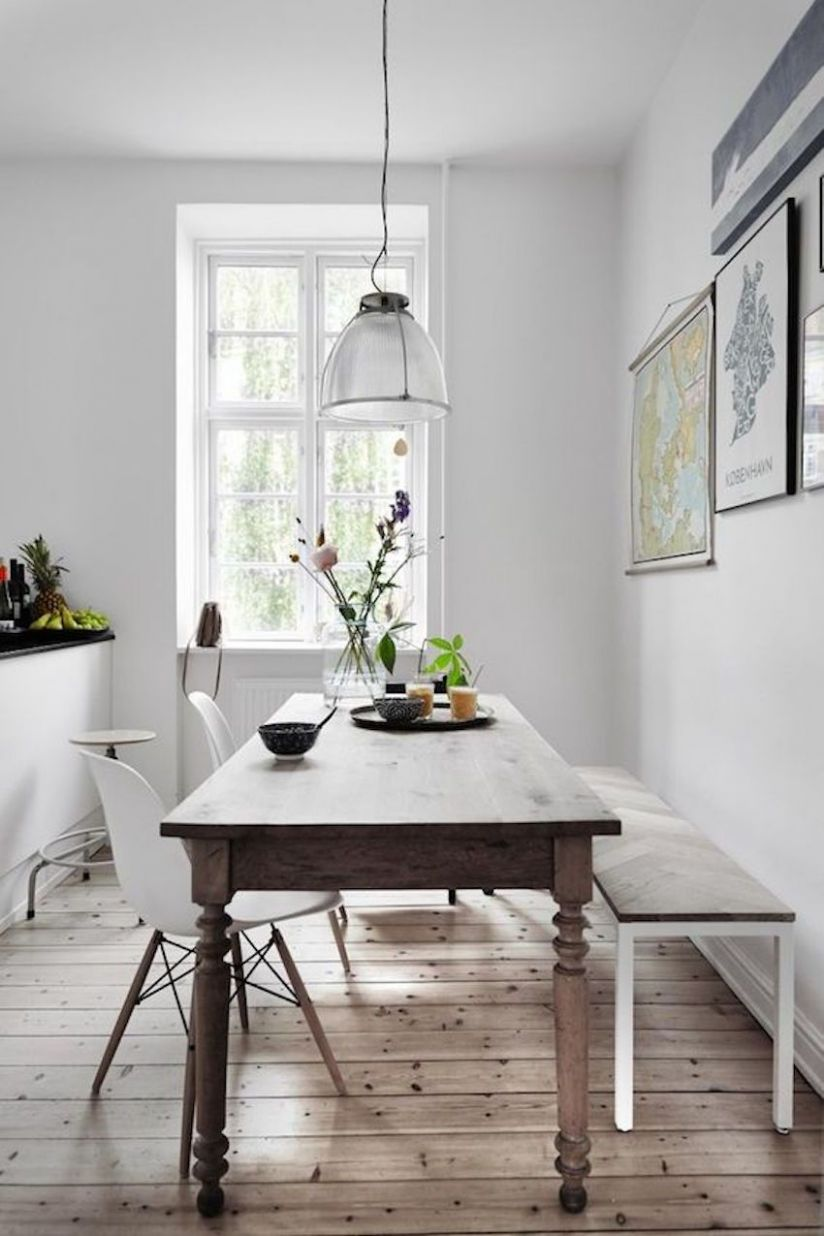 12 Narrow Dining Tables For a Small Dining Room | Small space ...