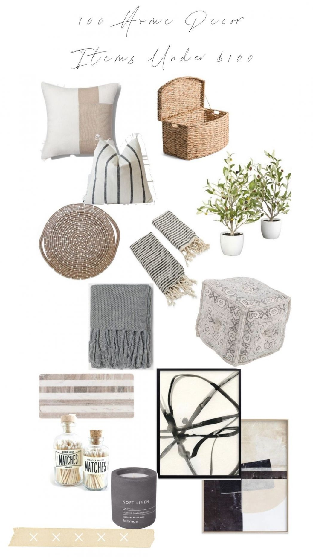 12 Neutral Home Decor Items Under $12 - Beaus and Ashley - home decor under 100