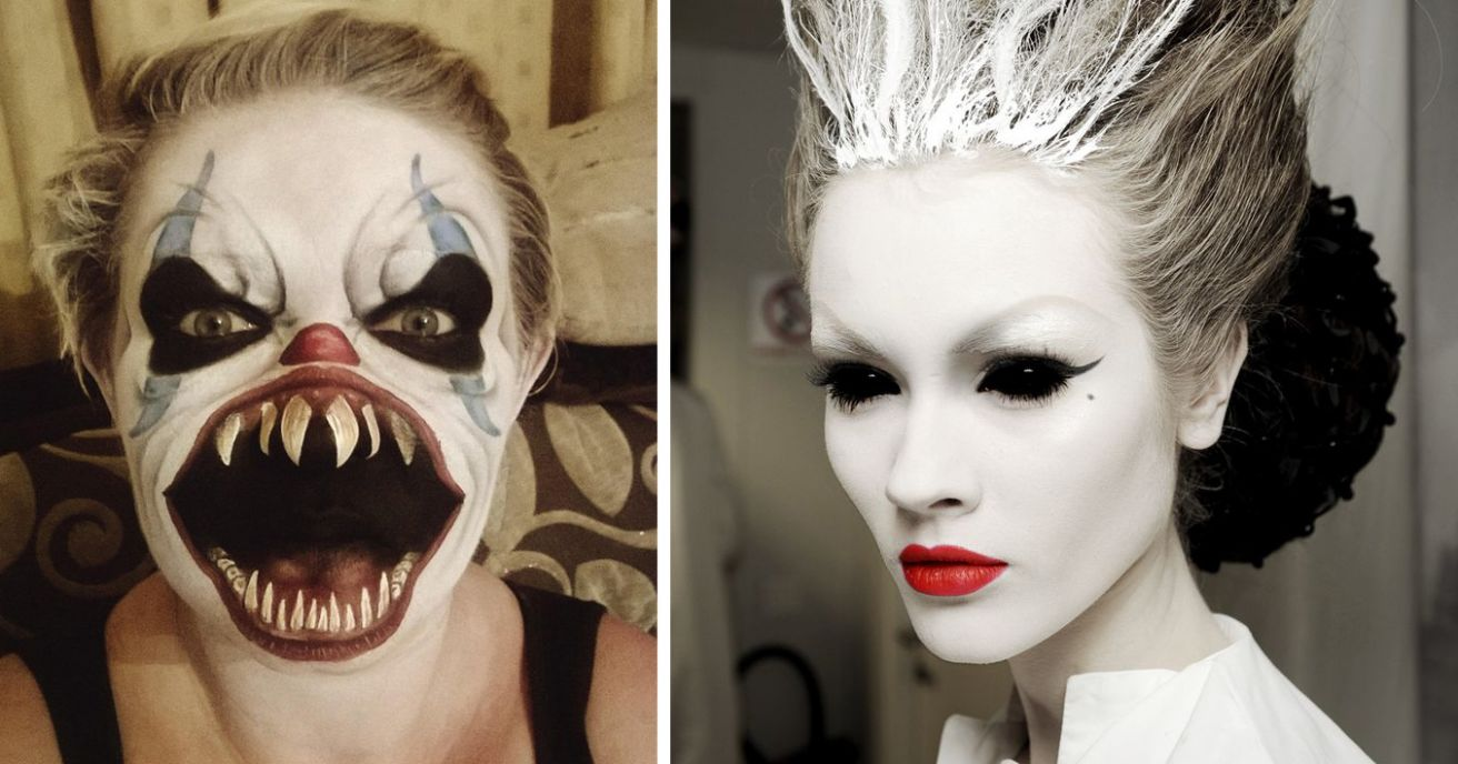 12 Of The Scariest Makeup Ideas For Halloween | DeMilked - halloween ideas scary makeup