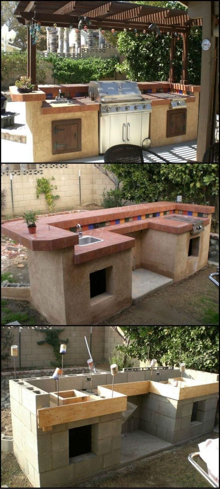 12 Plans to Make a Simple Outdoor Kitchen | Build outdoor kitchen ...