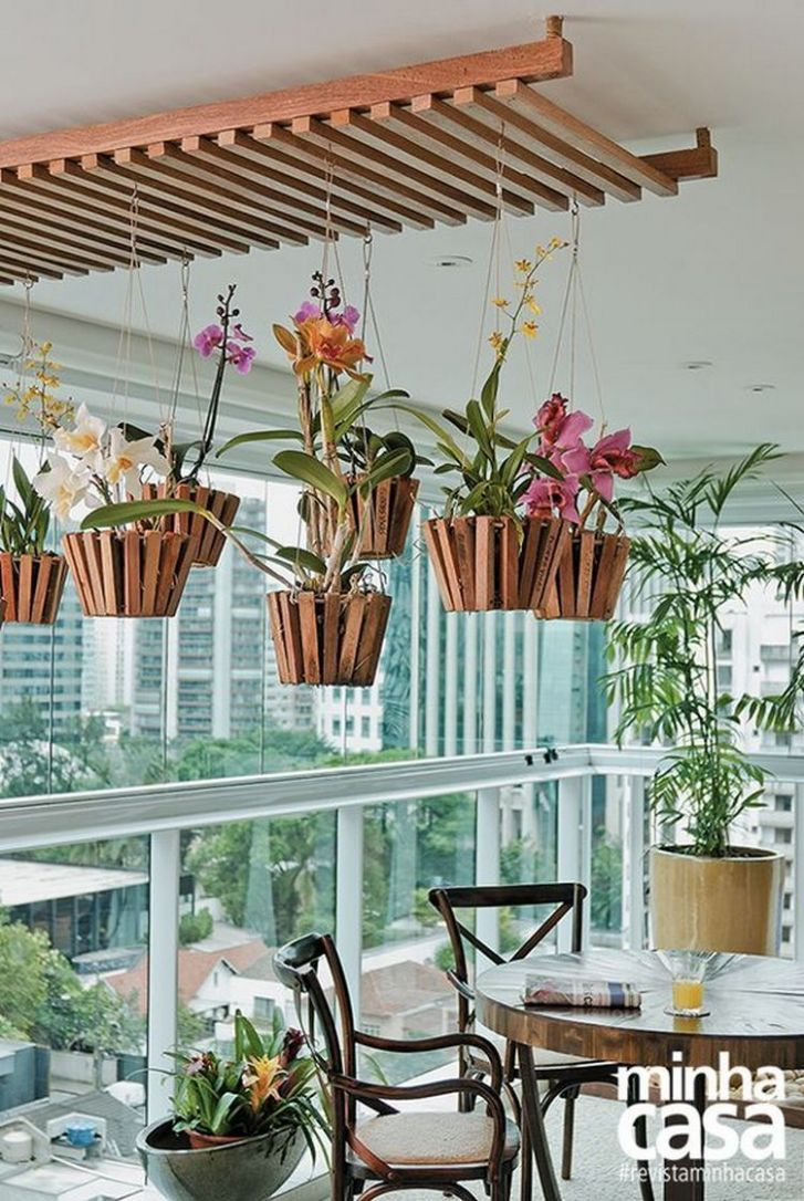 12 Pretty And Simple Balcony Ceiling Ideas   Hanging orchid ..