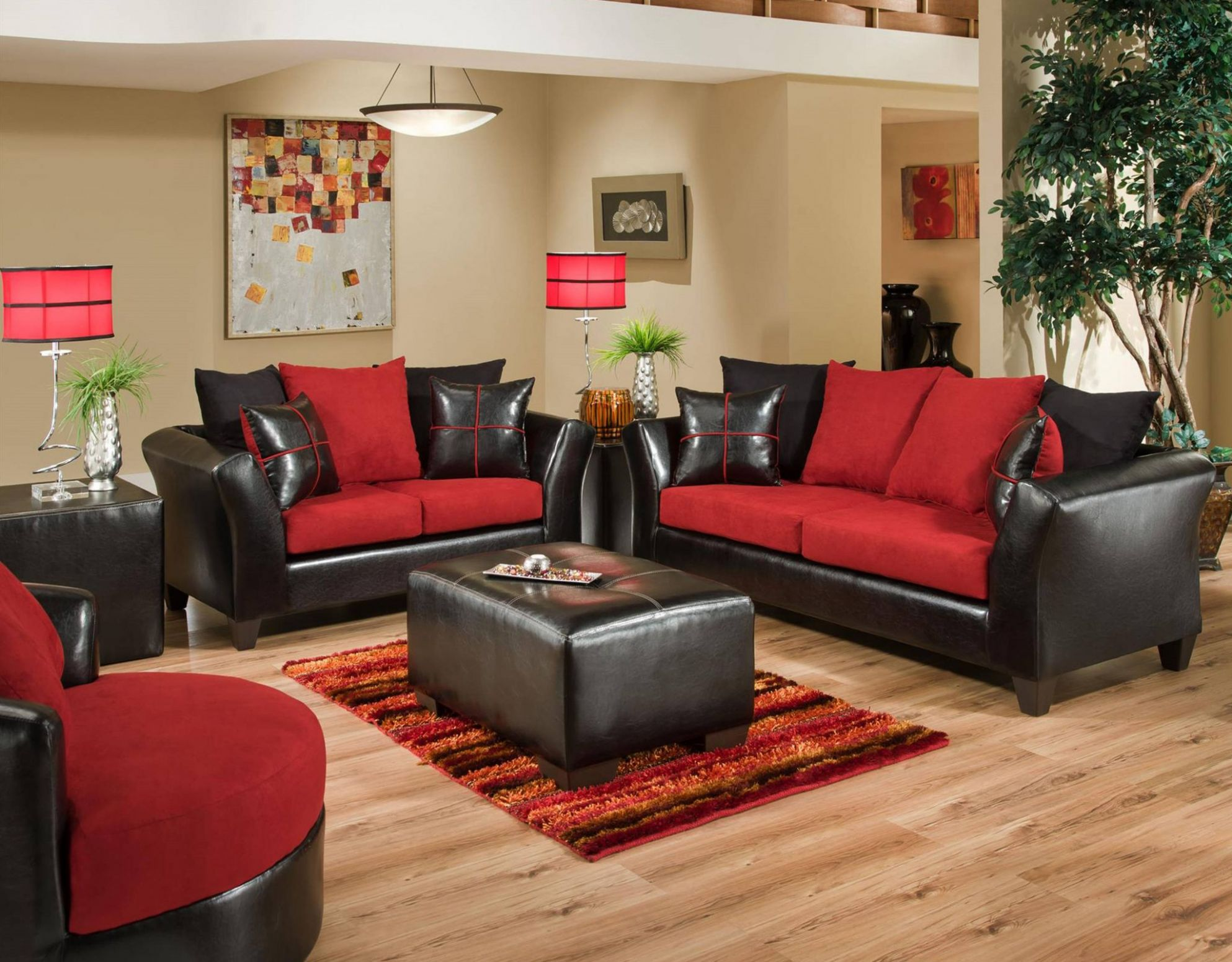12 Red and Black Living Room Ideas 12 (The Stunning Combo) - living room ideas red black grey